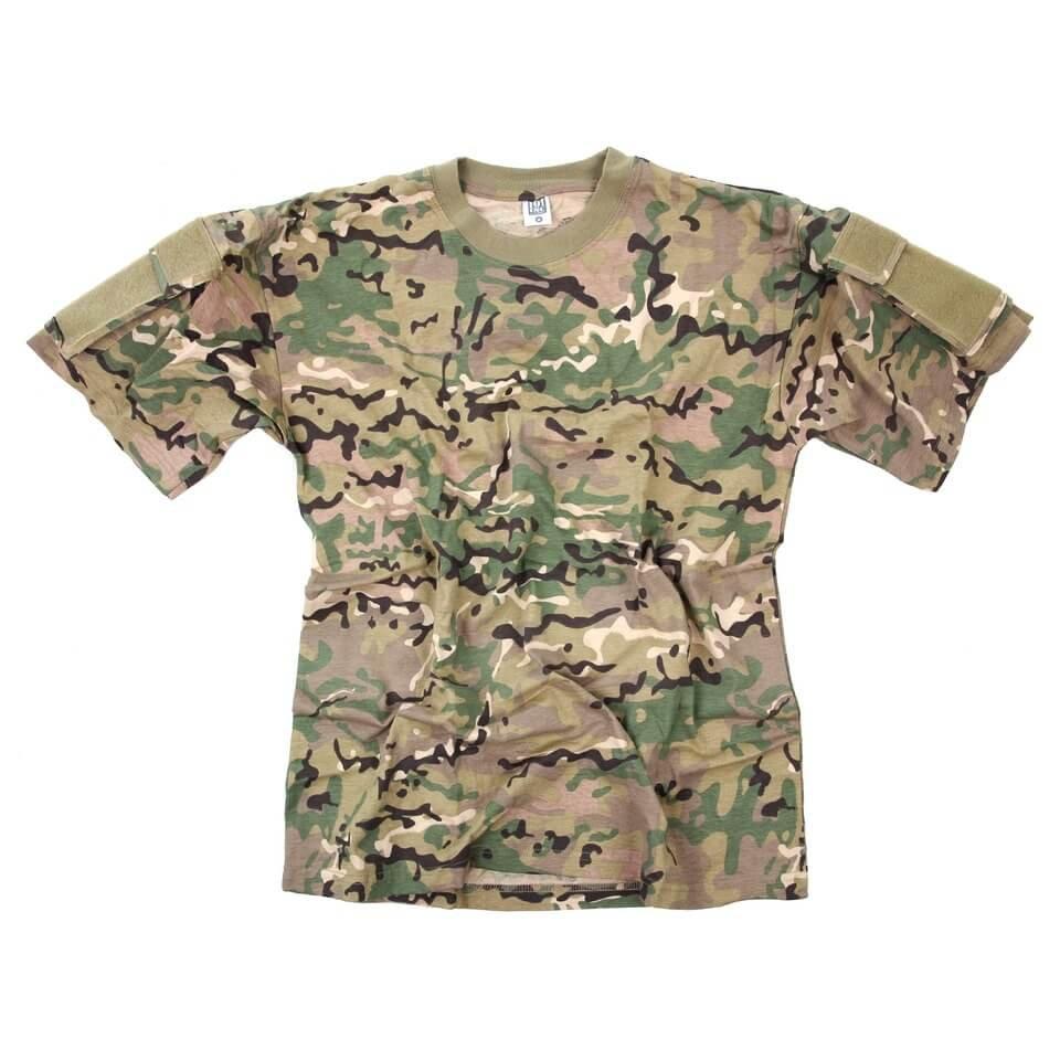 Multicam T-shirt med lomme